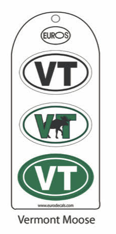 VT Moose Set of 3 Stickers