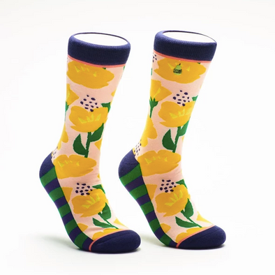 California Poppies Crew Socks