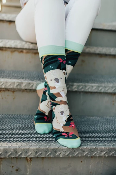 Over Koala-Fied Crew Socks