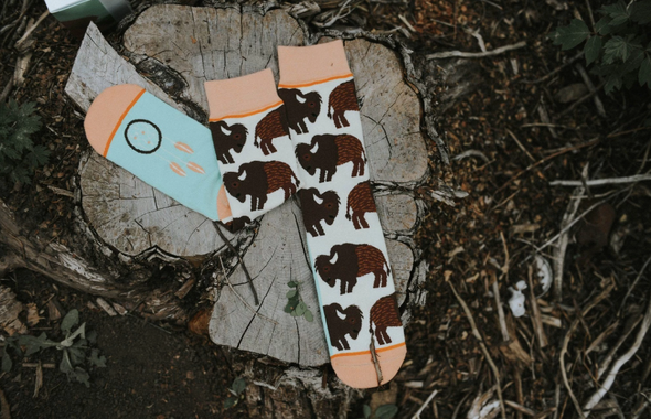 Bison Crew Socks