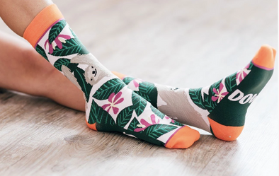 Slow Down Sloth Crew Socks