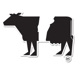 Vermoont Cow Sticker