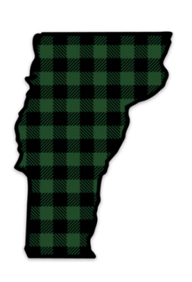 Green Plaid Vermont Magnet