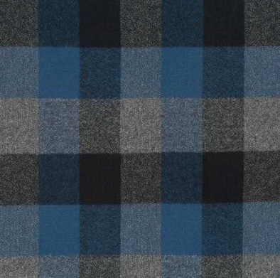 Plaid Flannel Infinity Scarf - Blue, Black, and Grey