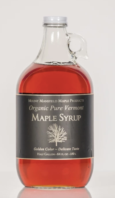 Organic VT Maple Syrup - Half Gallon Glass Jug