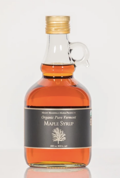 Organic VT Maple Syrup - 1 Liter Glass Jug