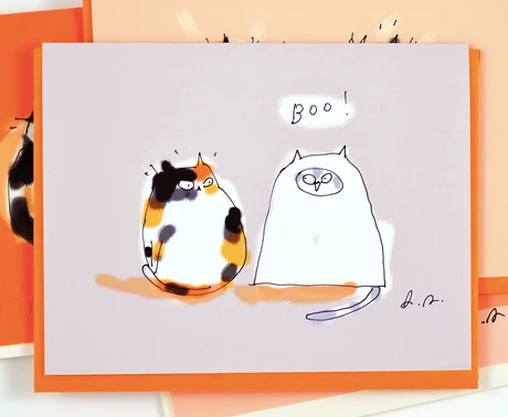 Boo! HALLOWEEN CAT CARD