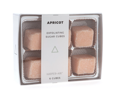 Exfoliating Sugar Cubes - Apricot - Gift Box