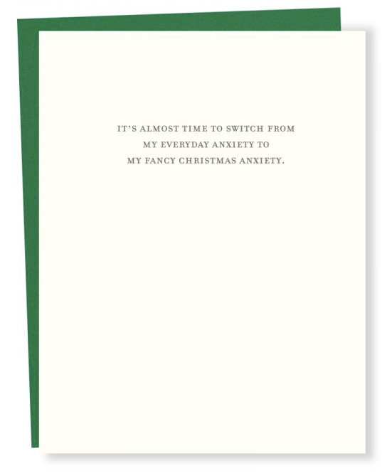 Anxiety Christmas Card
