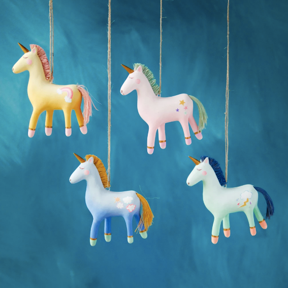 Unicorn Friends Ornament
