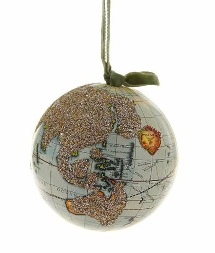 Glittered Globe Ornament