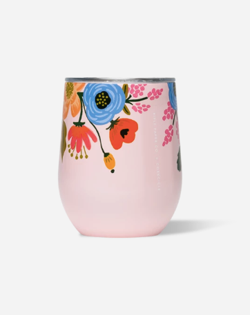 12oz Blush Floral Stemless Tumbler
