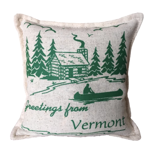 Greetings From Vermont Balsam Fir Pillow