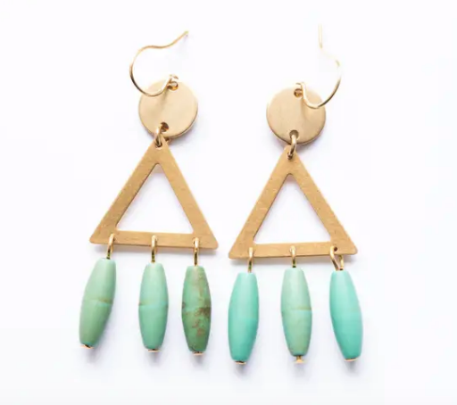 Turquoise Magnesite Stone Earrings
