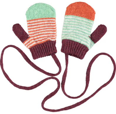 Kid's Patterned Lambswool Mittens