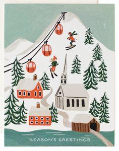 Holiday Snow Scene Card Set