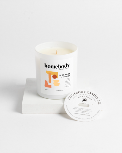 Tuberose and Honey Burn and Bloom Candle