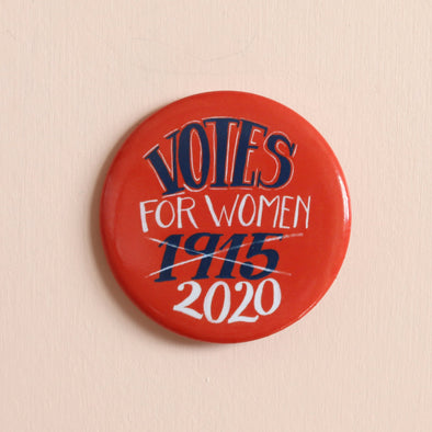 Votes For Women 1915/2020 button