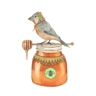 Woodland Kitchen: Jozefa the Honey Bird - Art Print