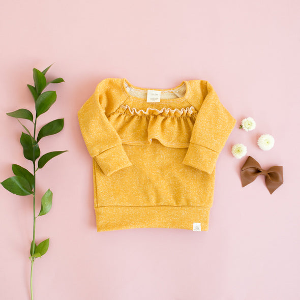 Mustard Ruffle Sweater