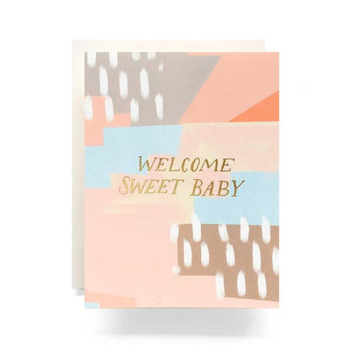 Abstract New Baby card