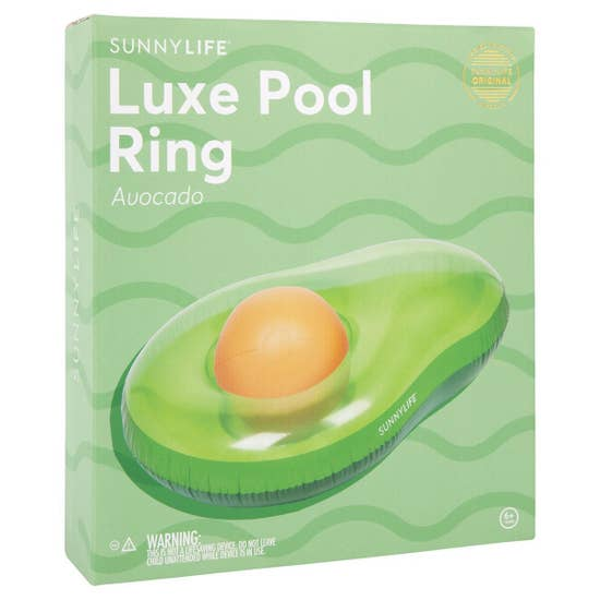 Luxe Pool Ring Avocado
