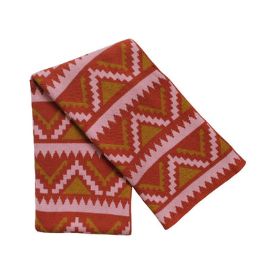 Aztec Gold/Terracotta/Petal Throw- WATERBURY