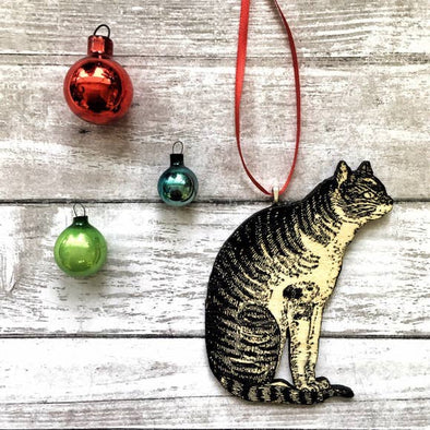 Cat in Profile Christmas Ornament