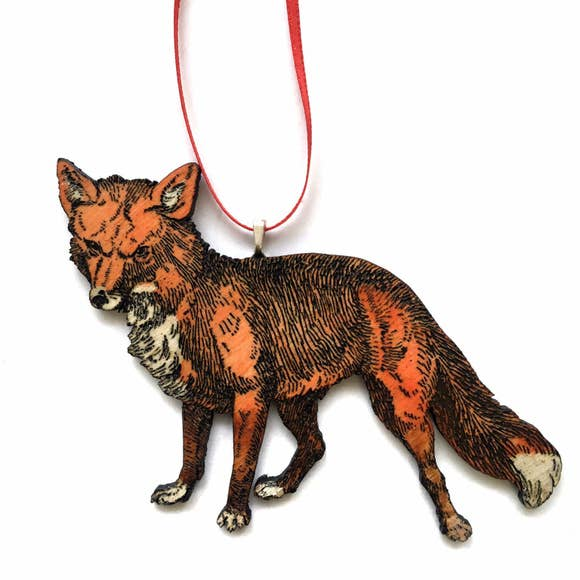 Handpainted Fox Ornament