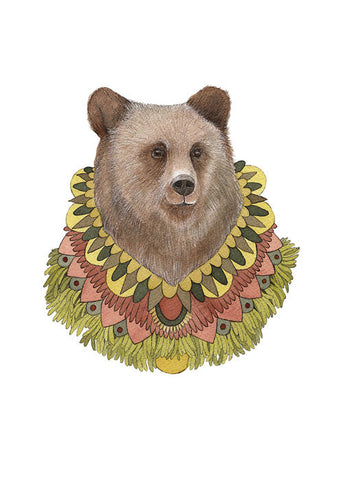 Collector: Bear // 5x7 Art Print // Polanshek of the Hills