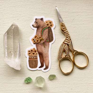 Flower Messenger: The Bear - Sticker