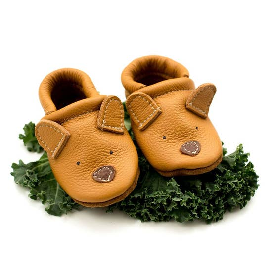 Cute Critters Honey Bear Leather Baby Shoes