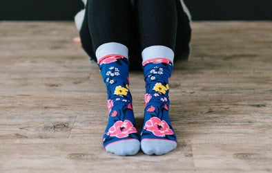 Bloom Where You Are Planted Crew Socks