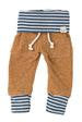Mustard and Navy Stripe Baby Sweatpants