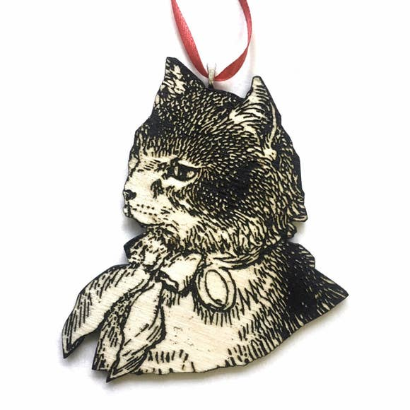 Cat with Bow Ornament