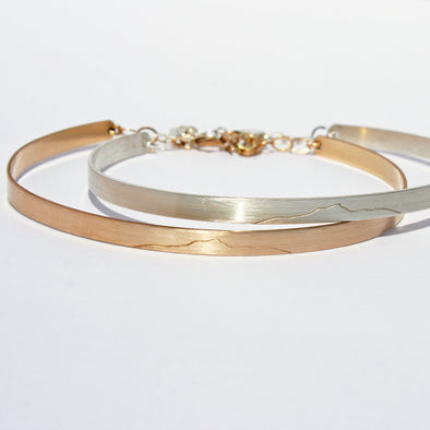 Camel's Hump Bangle Bracelet