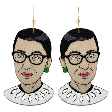RBG Ruth Bader Ginsburg Earrings