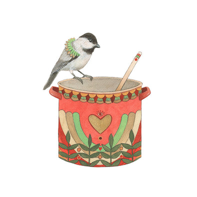 Woodland Kitchen: Nancy's Nesting Pot - Art Print
