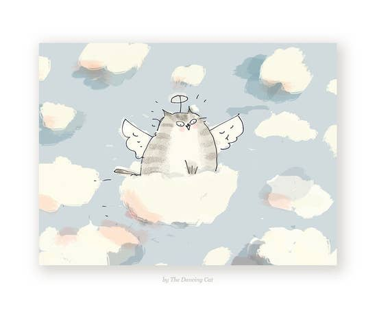 Cloud Ride Sympathy Card