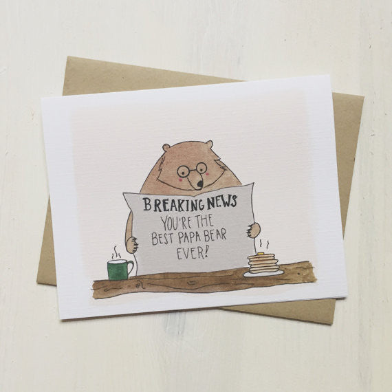 The Best Papa Bear Ever Greeting Card
