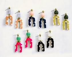 Colorful Modern Earrings