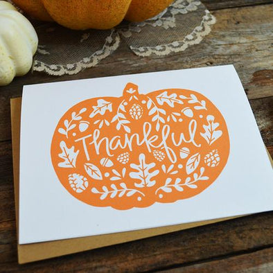 Thankful Pumpkin Greeting Card