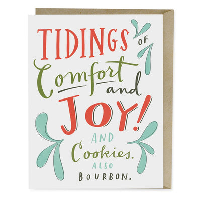 Comfort and Joy Holiday Greeting Card