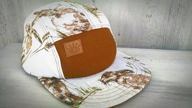 English Rabbit Print 5 Panel Camp Hat