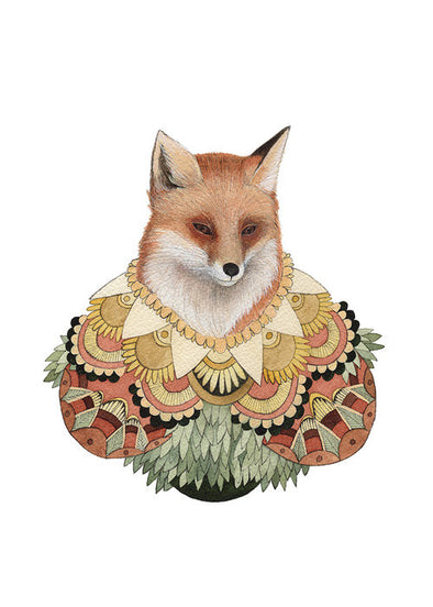 5x7 Art Print: Collector: The Fox