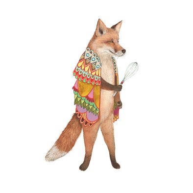 Woodland Kitchen: Frank the Whisking Fox - Art Print