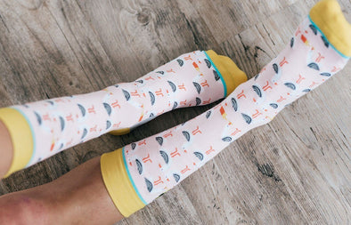 French Gulls and Sea Fries Crew Socks