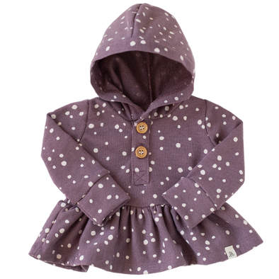 Grape Dot Peplum Hoodie