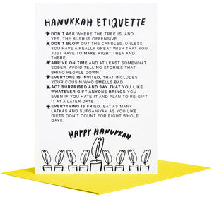 Hanukkah Etiquette Greeting Card