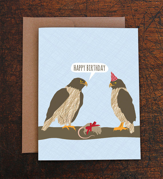 Hawks Birthday Card